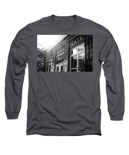 Full Moon Cafe Long Sleeve T-Shirt by David Sutton