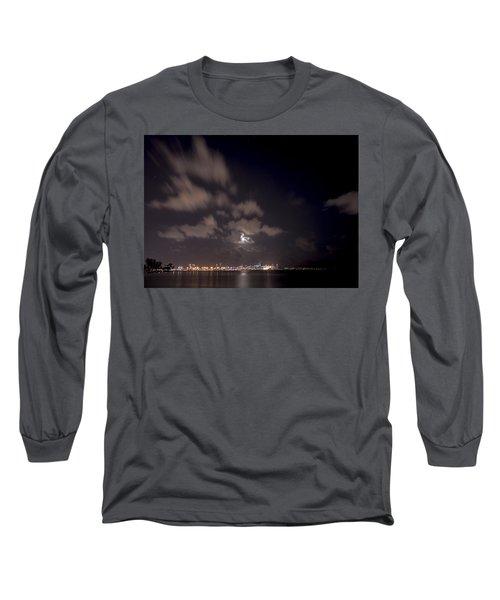 Full Moon In Miami Long Sleeve T-Shirt