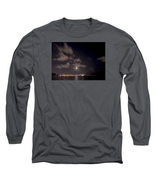 Full Moon In Miami Long Sleeve T-Shirt