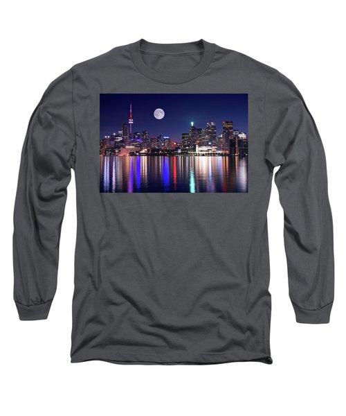 Full Moon In Toronto Long Sleeve T-Shirt