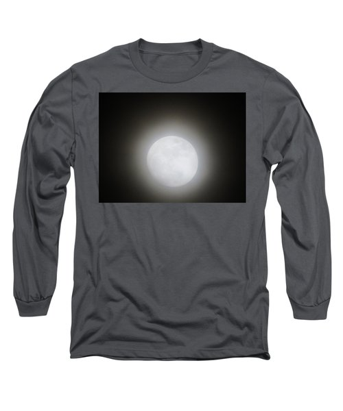 Full Moon Ring Long Sleeve T-Shirt by Kathy Long