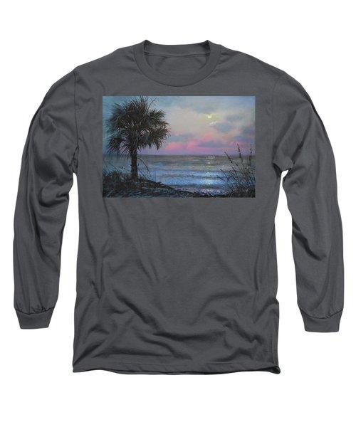 Full Moon Rising Long Sleeve T-Shirt by Blue Sky