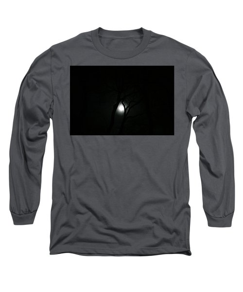 Long Sleeve T-Shirt featuring the photograph Full Moon Through Trees by Marilyn Hunt