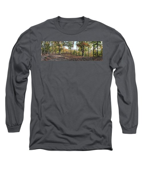 Full Panoramic View From The Summit Of Brown's Mountain Trail Long Sleeve T-Shirt