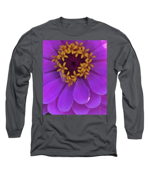 Fuschia Zinnia Long Sleeve T-Shirt