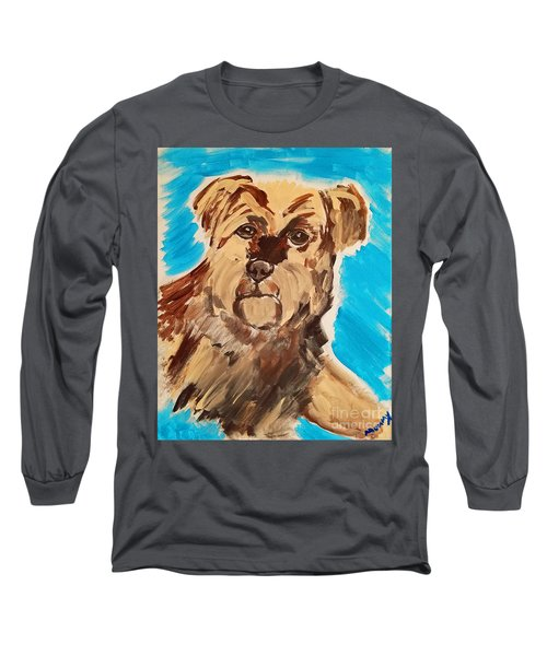 Long Sleeve T-Shirt featuring the painting Fuzzy Boy by Ania M Milo