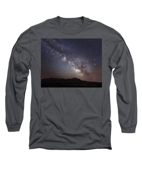 Galactic Light On Badlands National Park Long Sleeve T-Shirt