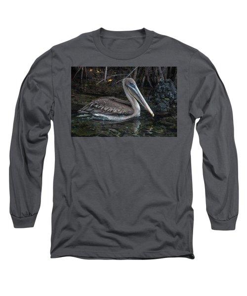 Galapagos Pelican Long Sleeve T-Shirt