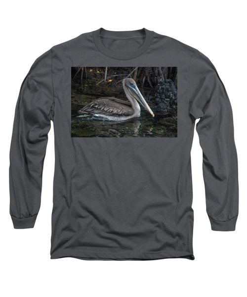 Galapagos Pelican Long Sleeve T-Shirt
