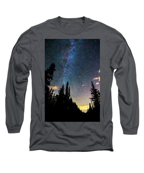 Long Sleeve T-Shirt featuring the photograph  Galaxy Rising by James BO Insogna
