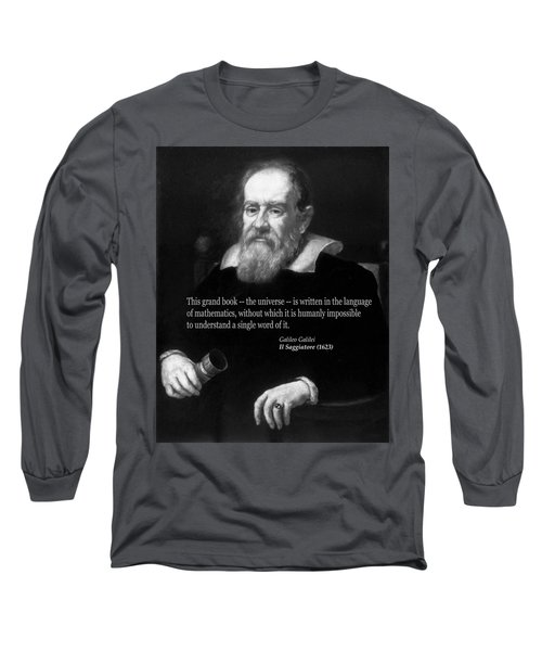 Galileo On Mathematics Bw Long Sleeve T-Shirt