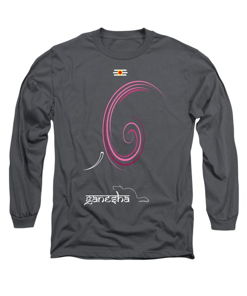 Ganesha Design Long Sleeve T-Shirt by Tim Gainey