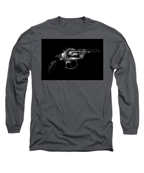 Long Sleeve T-Shirt featuring the mixed media Gangster Gun by Daniel Hagerman