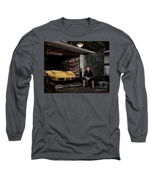 Garage Portrait Long Sleeve T-Shirt by Brad Allen Fine Art