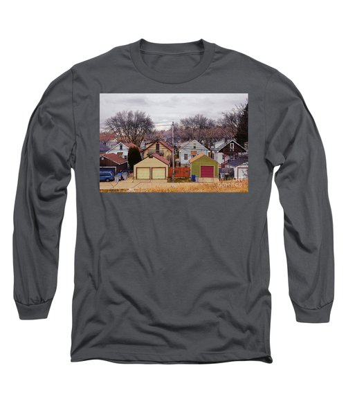 Garages Long Sleeve T-Shirt by David Blank