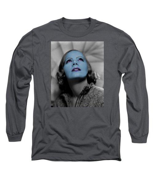 Garbo In Blue Long Sleeve T-Shirt