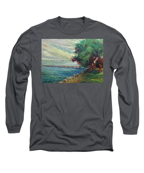 Garda Lake -lago Garda Long Sleeve T-Shirt by Walter Casaravilla
