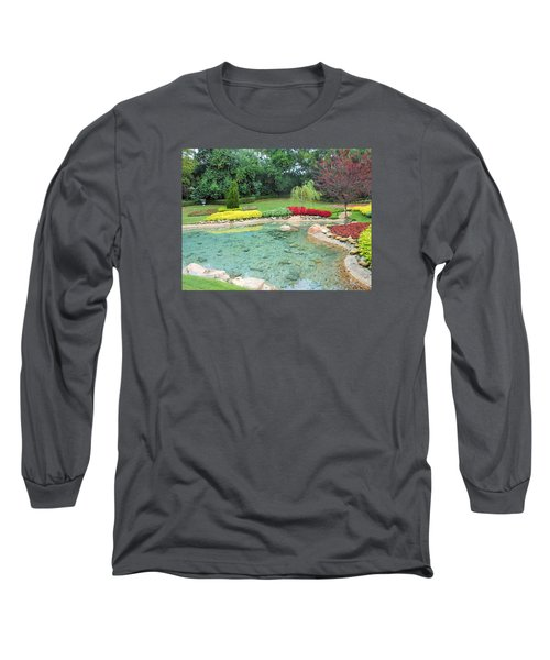 Garden At Epcot Long Sleeve T-Shirt by Kay Gilley