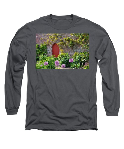 Garden Door - Paint With Canvas Texture Long Sleeve T-Shirt