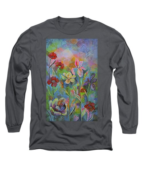 Garden Of Intention - Triptych Center Panel Long Sleeve T-Shirt