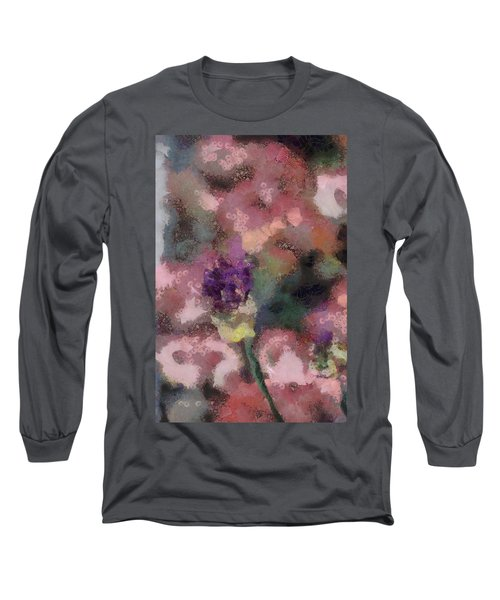 Long Sleeve T-Shirt featuring the mixed media Garden Of Love by Trish Tritz