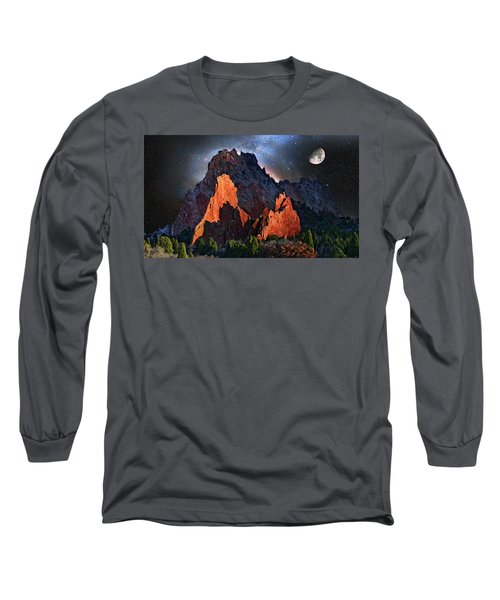 Garden Of The Gods Fantasy Art Long Sleeve T-Shirt by John Hoffman
