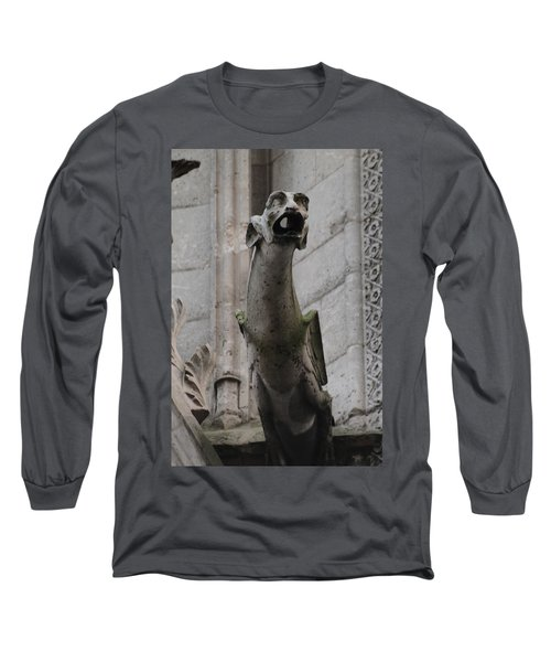 Long Sleeve T-Shirt featuring the photograph Gargoyle Notre Dame by Christopher Kirby