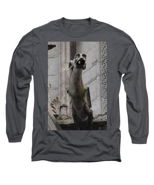 Gargoyle Notre Dame Long Sleeve T-Shirt