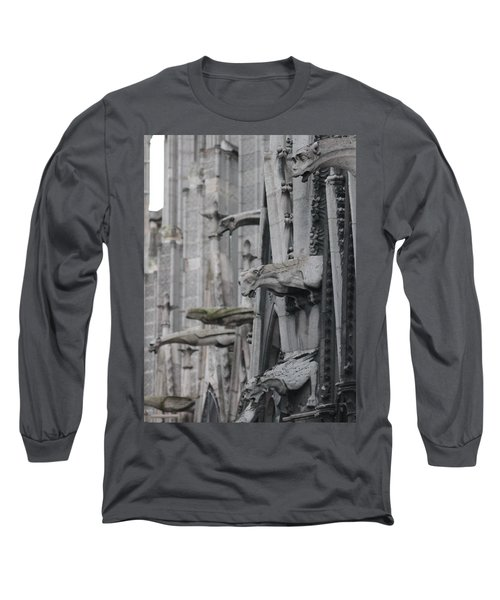 Gargoyles North Notre Dame Long Sleeve T-Shirt