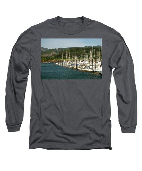 Garibaldi Oregon Marina Long Sleeve T-Shirt