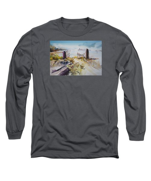 Gated Shore Long Sleeve T-Shirt by P Anthony Visco