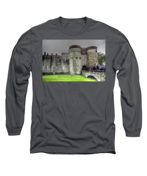 Gates To The Tower Of London Long Sleeve T-Shirt by Karen McKenzie McAdoo