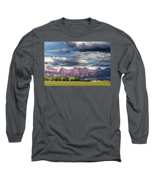 Gathering Storm Over The Fingers Of Kolob Long Sleeve T-Shirt