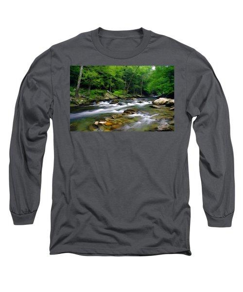 Gatlinburg Stream Long Sleeve T-Shirt