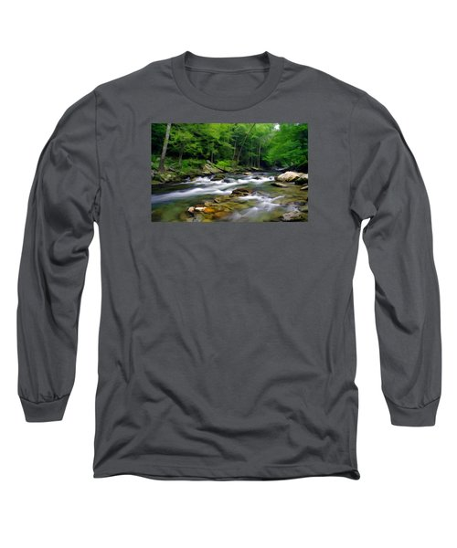 Gatlinburg Stream Long Sleeve T-Shirt