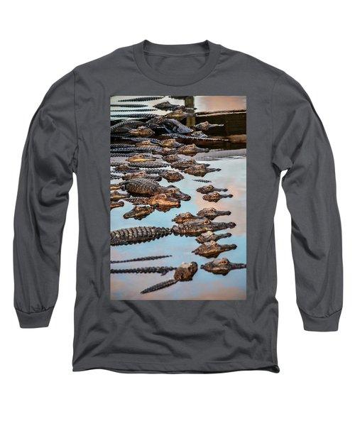 Gator Pack Long Sleeve T-Shirt by Josy Cue