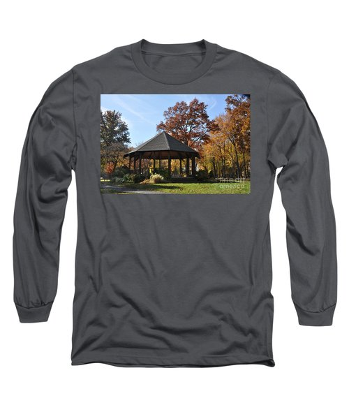 Gazebo At North Ridgeville - Autumn Long Sleeve T-Shirt