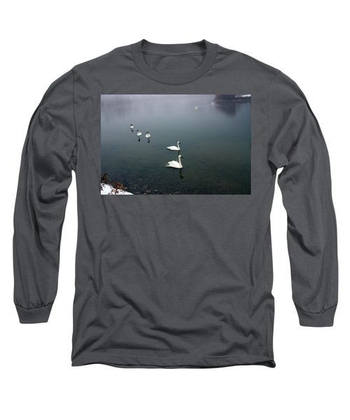 Geese In A Row Long Sleeve T-Shirt