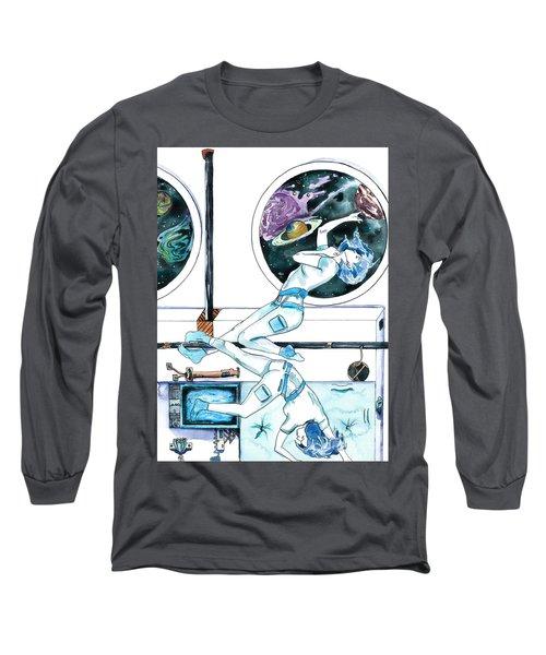 Gemini Journey Pollux Pleads Long Sleeve T-Shirt by D Renee Wilson
