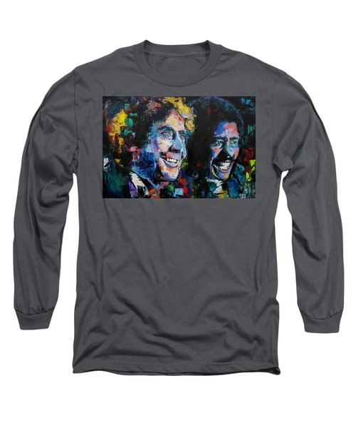 Gene Wilder And Richard Pryor Long Sleeve T-Shirt by Richard Day