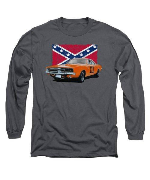 General Lee Rebel Long Sleeve T-Shirt by Paul Kuras