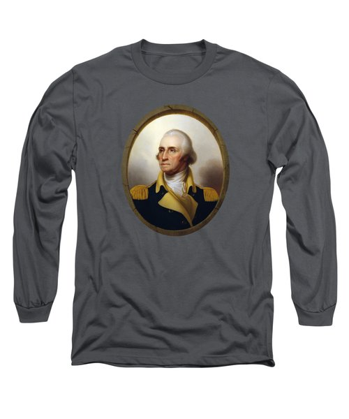 General Washington - Porthole Portrait  Long Sleeve T-Shirt by War Is Hell Store