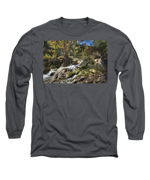 Long Sleeve T-Shirt featuring the photograph Gentle Mountain Stream by Tamyra Ayles