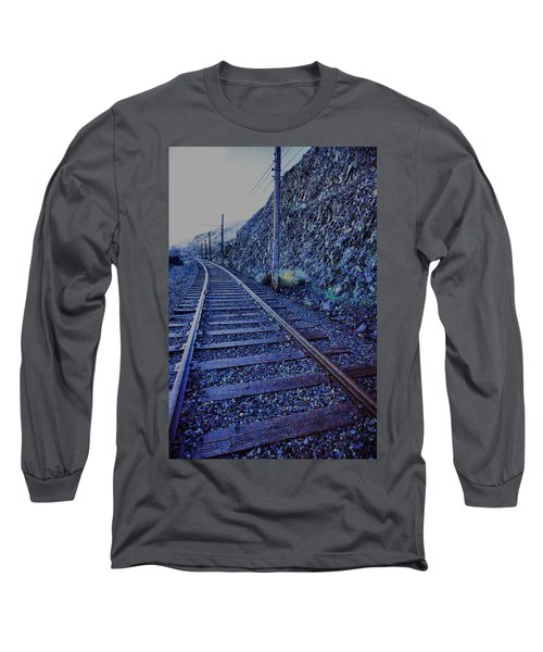 Long Sleeve T-Shirt featuring the photograph Gently Winding Tracks by Jeff Swan