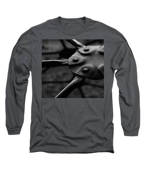 Long Sleeve T-Shirt featuring the photograph Geodome Climber by Richard Rizzo
