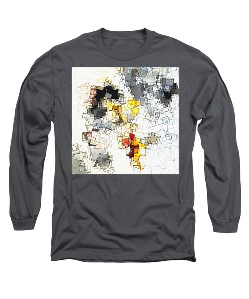 Geometric Minimalist And Abstract Art Long Sleeve T-Shirt by Ayse Deniz