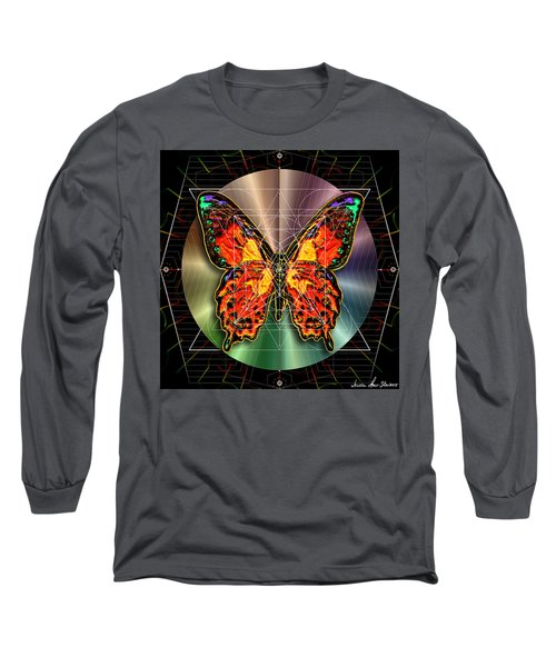 Geometron Fyr Lepidoptera Long Sleeve T-Shirt by Iowan Stone-Flowers