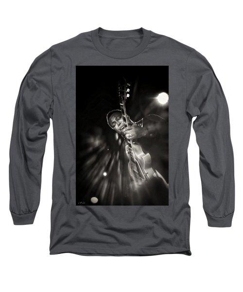 George Benson Black And White Long Sleeve T-Shirt