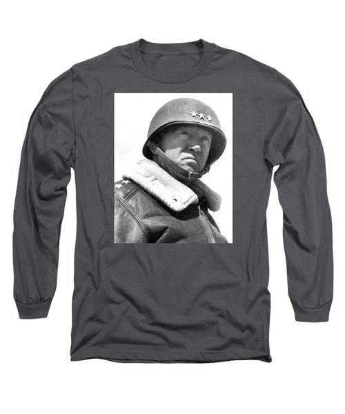 George S. Patton Unknown Date Long Sleeve T-Shirt by David Lee Guss