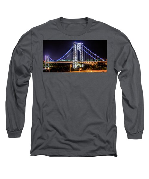 George Washington Bridge - Memorial Day 2013 Long Sleeve T-Shirt